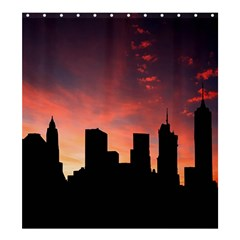 Skyline Panoramic City Architecture Shower Curtain 66  X 72  (large)