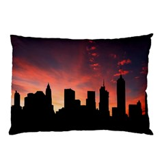 Skyline Panoramic City Architecture Pillow Case (two Sides)