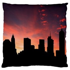 Skyline Panoramic City Architecture Large Cushion Case (two Sides)