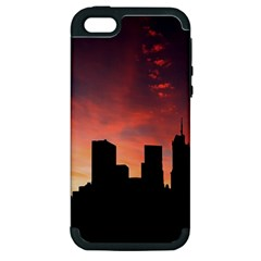 Skyline Panoramic City Architecture Apple Iphone 5 Hardshell Case (pc+silicone)