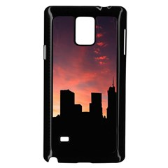Skyline Panoramic City Architecture Samsung Galaxy Note 4 Case (black)