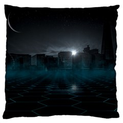 Skyline Night Star Sky Moon Sickle Large Cushion Case (one Side)