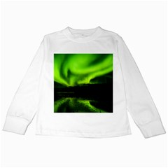 Aurora Borealis Northern Lights Sky Kids Long Sleeve T Shirts
