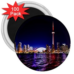 Toronto City Cn Tower Skydome 3  Magnets (100 Pack)