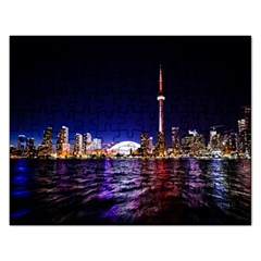 Toronto City Cn Tower Skydome Rectangular Jigsaw Puzzl by Samandel