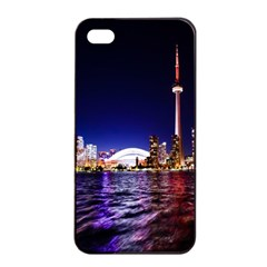 Toronto City Cn Tower Skydome Apple Iphone 4/4s Seamless Case (black)