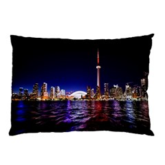 Toronto City Cn Tower Skydome Pillow Case by Samandel