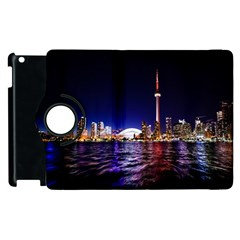 Toronto City Cn Tower Skydome Apple Ipad 3/4 Flip 360 Case