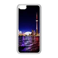 Toronto City Cn Tower Skydome Apple Iphone 5c Seamless Case (white)