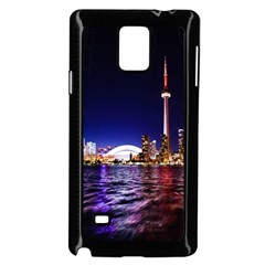 Toronto City Cn Tower Skydome Samsung Galaxy Note 4 Case (black)