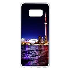 Toronto City Cn Tower Skydome Samsung Galaxy S8 Plus White Seamless Case