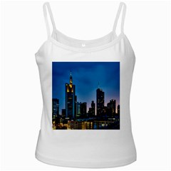 Frankfurt Germany Panorama City White Spaghetti Tank by Samandel