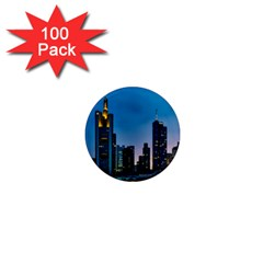 Frankfurt Germany Panorama City 1  Mini Magnets (100 Pack)