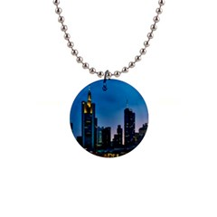 Frankfurt Germany Panorama City Button Necklaces
