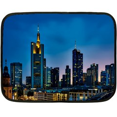 Frankfurt Germany Panorama City Fleece Blanket (mini)