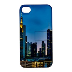 Frankfurt Germany Panorama City Apple Iphone 4/4s Hardshell Case With Stand