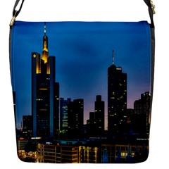 Frankfurt Germany Panorama City Flap Closure Messenger Bag (s)