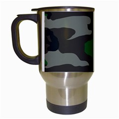 Army Green Camouflage Travel Mugs (white)