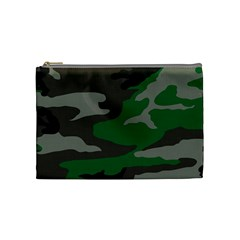 Army Green Camouflage Cosmetic Bag (medium)