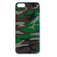 Army Green Camouflage Apple Seamless Iphone 5 Case (color) by Samandel
