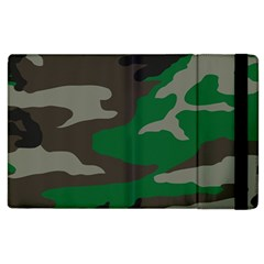 Army Green Camouflage Apple Ipad 2 Flip Case