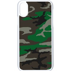 Army Green Camouflage Apple Iphone X Seamless Case (white)