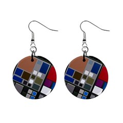 Abstract Composition Mini Button Earrings