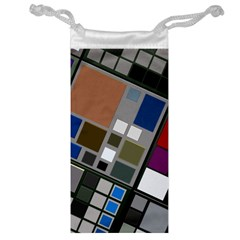 Abstract Composition Jewelry Bag