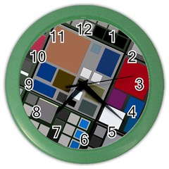 Abstract Composition Color Wall Clock