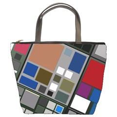 Abstract Composition Bucket Bag by Samandel