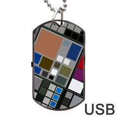 Abstract Composition Dog Tag Usb Flash (two Sides)