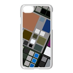Abstract Composition Apple Iphone 8 Seamless Case (white)