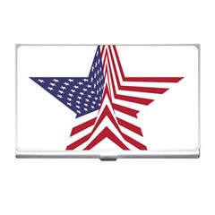 A Star With An American Flag Pattern Business Card Holder