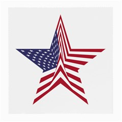 A Star With An American Flag Pattern Medium Glasses Cloth