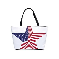 A Star With An American Flag Pattern Classic Shoulder Handbag by Samandel