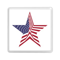 A Star With An American Flag Pattern Memory Card Reader (square)