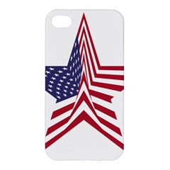 A Star With An American Flag Pattern Apple Iphone 4/4s Hardshell Case by Samandel