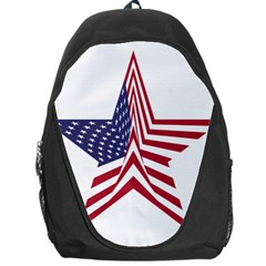 A Star With An American Flag Pattern Backpack Bag by Samandel