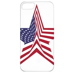 A Star With An American Flag Pattern Apple Iphone 5 Classic Hardshell Case