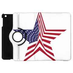 A Star With An American Flag Pattern Apple Ipad Mini Flip 360 Case by Samandel
