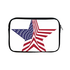 A Star With An American Flag Pattern Apple Ipad Mini Zipper Cases