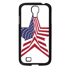 A Star With An American Flag Pattern Samsung Galaxy S4 I9500/ I9505 Case (black) by Samandel
