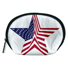 A Star With An American Flag Pattern Accessory Pouch (medium)
