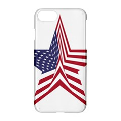 A Star With An American Flag Pattern Apple Iphone 7 Hardshell Case