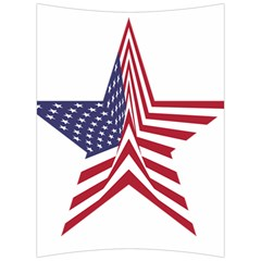 A Star With An American Flag Pattern Back Support Cushion by Samandel