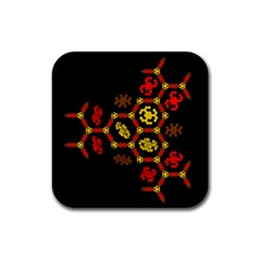 Algorithmic Drawings Rubber Square Coaster (4 Pack)