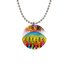 African American Women Button Necklaces by AlteredStates