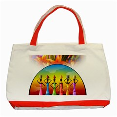 African American Women Classic Tote Bag (red) by AlteredStates