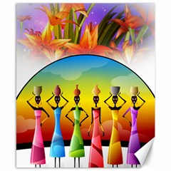 African American Women Canvas 8  X 10  by AlteredStates