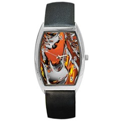 Special Fractal 24 Terra Barrel Style Metal Watch by ImpressiveMoments